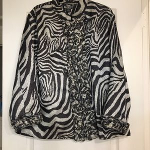 The collective works of BEREK blazer zebra